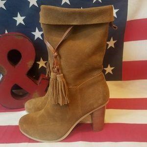 Very Volatile LA. Boho Suede Leather Heeled Boots